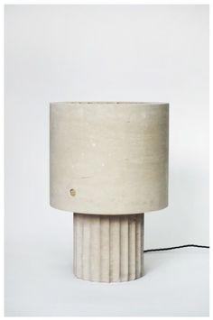 max lamb, small portland limestone lamp (2014), portland limestone.