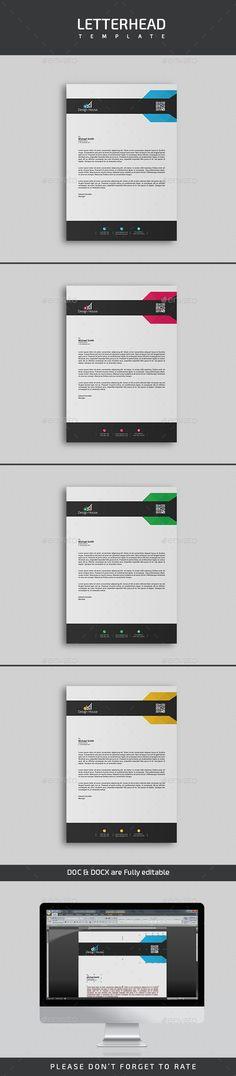 Letterhead Template PSD, Vector EPS, AI Illustrator, DOCX & DOC