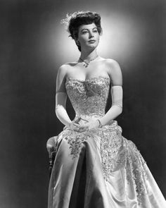 Ava Gardner from 'My Forbidden Past'. Great movie and beautiful dress!