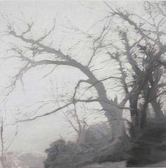 © Chris Langlois ~ Darkwood #21 ~ 2011 oil on linen at Tim Olsen Gallery Sydney Australia