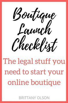Life & Business // How to Start An Online Boutique - Boutique Launch Checklist for Obtaining Your Business Licenses, Seller Permit, Finding Wholesalers, and Choosing an Ecommerce Platform - The legal stuff you need for starting an online shop Starting An Online Boutique, Online Shops, Online Boutiques, Online Shopping, Selling Online, Starting A Business, Business Planning, Business Tips, Business Website