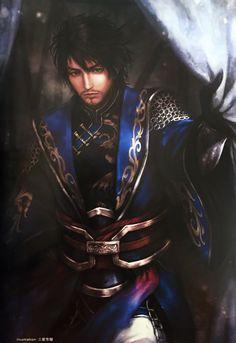 xun you artwork Sengoku Musou, Sengoku Basara, Warriors Game, Dynasty Warriors, Fantasy Warrior, Fantasy Rpg, Fantasy Weapons, Samurai Art, Samurai Warrior