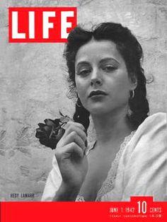 Life Magazine Cover Copyright 1942 Hedy Lamarr - www.MadMenArt.com | Life…