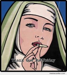 nun Friday Cartoon, Friday Meme, Funny Friday, The Flying Nun, Pop Art, Movie Of The Week, Stoner Girl, Psychedelic Art, Classic Toys