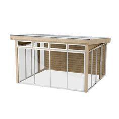 Bilderesultat for hagestue Summer Garden, Home And Garden, Original Design, Garden Studio, Roof Deck, Glass House, Play Houses, Outdoor Furniture, Outdoor Decor