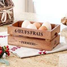 Rustic French Egg Crate