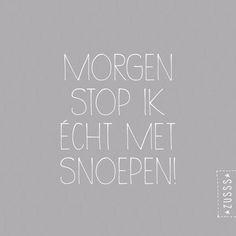 Zusss | Morgen stop ik echt met snoepen | www.zusss.nl