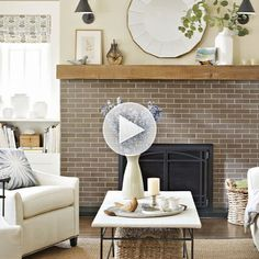 Diy faux stucco fireplace knock it off the live well network before and after remodelspage17 solutioingenieria Image collections