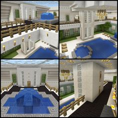Minecraft Elevator Atrium Fountain House Balcony