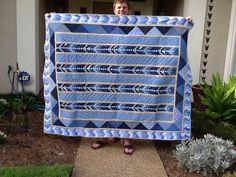 Blue quilt -French Braid