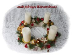 Adventskranz 32cm aus Floristenhänden mehrjährig von Die Geschenkidee auf DaWanda.com