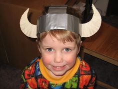 "Bug, Boo, and Bean: ""Dragon"" Party Armour Part Viking Hats Sonlight Core A week 5 Dragon Birthday Parties, Dragon Party, Diy Birthday, Birthday Ideas, Viking Armor, Viking Helmet, Viking Dragon, Dragon Crafts, Hat Crafts"