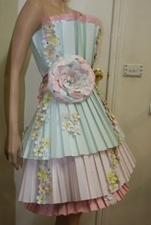 how to make a paper dress - Google Search