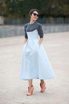 Street Style: Paris Fashion Week Spring 2014 - Ulyana Sergeenko