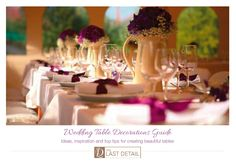 Free Wedding Table Decorations Guide - click to download now