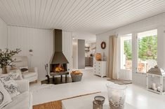 SMALL HOUSE BLISS SMALL HOUSE DESIGNS WITH BIG IMPACT A MONOCHROMATIC COTTAGE IN THE COUNTRYSIDE  February 1, 2015—This simple cottage in the Swedish countryside has 2 bedrooms. A monochromatic color scheme makes it appear more spacious than its 614 sq ft. | www.facebook.com/SmallHouseBliss