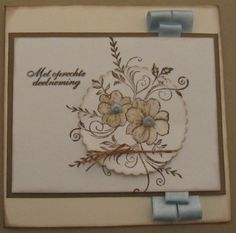 Sympathy card with Viva Decor stamp and ribbon. created by netsoojmik