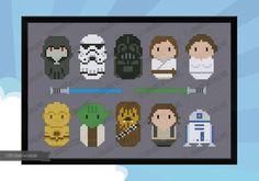 Star Wars Original Trilogy parody Cross stitch di cloudsfactory