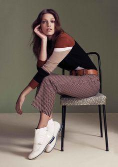 Samantha Gradoville stars in Harper's Bazaar Kazakhstan magazine February 2016 issue