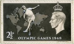 The Men's Shot put qualification round is taking place at London 2012 today. Competing for Team GB is Carl Myerscough. Here's some artwork which never became a London 1948 stamp to inspire us all.