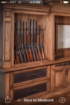 .pinterest.com/1895gunner/ Gun Rack & Pike Road Millwork; Southern hunting campu0027s custom made gun rack in ...