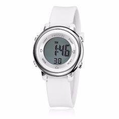 Sale 11% (7.39$) - OHSEN 1605 Digital LED Rubber Band Fashion Kids Girls Alarm Sports Watch