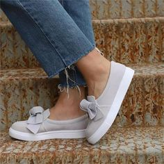 Fheaven Women/'s Casual Leather Loafers Shoes Driving Moccasins Flats Shoes Bowknot Low Platform Square Heel Ankle Shoes