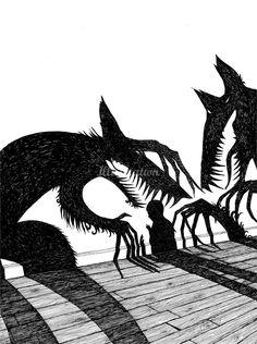 Shadow Monsters via Rohan Daniel Eason Illustrator
