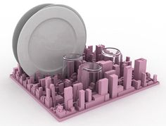 Inception dish rack shaped like Manhattan launches in New York
