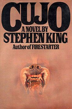 Cujo - Stephen King, I remember reading this on a plane as a kid. Stephen King was not afraid to cuss in his novels. Stephen Kings, Stephen King Books, Sandra Brown, I Love Books, Great Books, Books To Read, Michael Crichton, Dean Koontz, Vikings