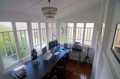 Amazing windows in this light Australian #home #office