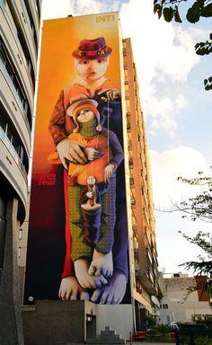mural Inti Castro (artista chileno) Paris