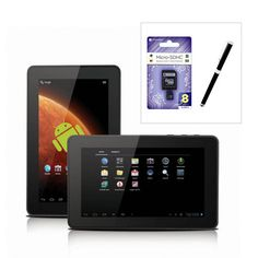 "Hipstreet Titan Wi-Fi 7"" Tablet Bundle $119 70% Savings FREE MP3 Player with purchase"