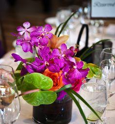 orchids roses anthirium