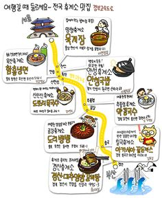Political Geography, Walking Map, Food Map, Delicious Restaurant, Travel Illustration, Information Graphics, Map Design, Travel Info, Korean Food