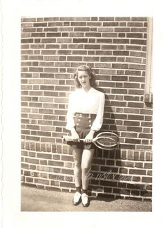pretty tennis player  All American Girl   1940's by photopicker