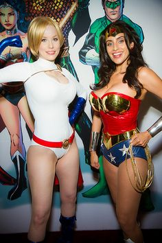 Comic Con 2013 Jim Blair-302.jpg Crystal Graziano as Power Girl and Valerie Perez as Wonder Woman