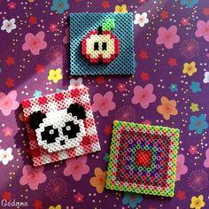 Hama perler bead crafts by Gédane