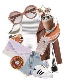 """""""Day on the town"""" by skybluepink173 ❤ liked on Polyvore featuring Topshop, Christian Louboutin, tarte, Rebecca Minkoff, Valentino, Ippolita, adidas and Rifle Paper Co"""