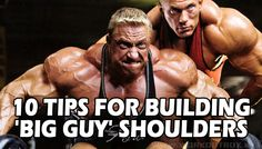 "Here are my quick and dirty tips for building massive shoulders. Use them wisely! - Use compound and isolated exercises for overall development/strength. - Start off with overhead shoulder presses while shoulders are fresh and you can handle more weight. - Do dumbbell side lateral raises for building the ""caps""…"