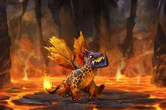 Dragons of Atlantis - Baby Fire Dragon