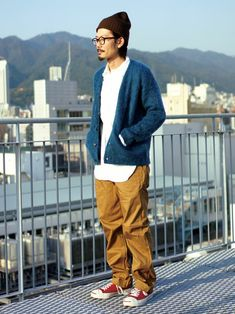 KNOCK OUT WEBSTORE | KNOCK OUT TANAKAさんのカーディガン「niche. 【Niche.】Aberdeen Mohair Cardigan」を使ったコーディネート