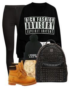 Back to school #2 by ty-bands on Polyvore featuring polyvore fashion style H&M Timberland MCM Michael Kors clothing