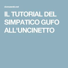 IL TUTORIAL DEL SIMPATICO GUFO ALL'UNCINETTO