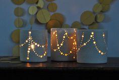 Ceramic Luminaries by Naomi Anita on Etsy
