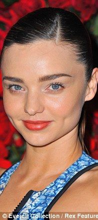 Inspired by Heburn: From left, Miranda Kerr, Rooney Mara and Natalie Portman have a modern take on Audrey's straight brows