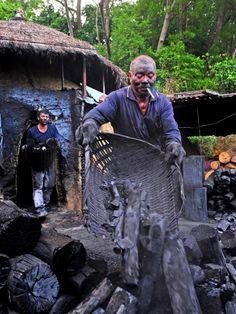 Charcoal worker, Taiwan