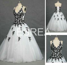 Damask Halter Wedding Gown