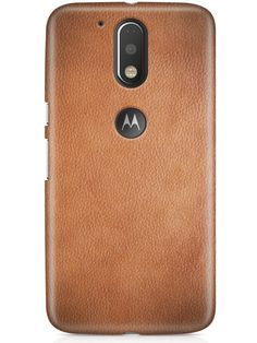 CASE U Moto G4 Plus Cover/Case + Free Tempered Glass, Printed GrayTan Leather Designer Premium PolyCarbonate Case Back Cover for Motorola Moto G4 Plus: Amazon.in: Electronics