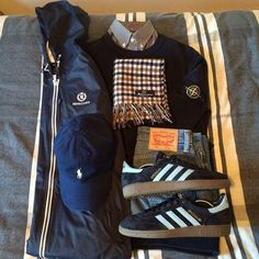 Football Casual Clothing, Football Casuals, Skinhead Fashion, Skinhead Style, Boy Outfits, Trendy Outfits, Outfit Grid, Best Mens Fashion, Costume